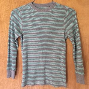 Boys size 10-12 thermal striped longsleeve shirt